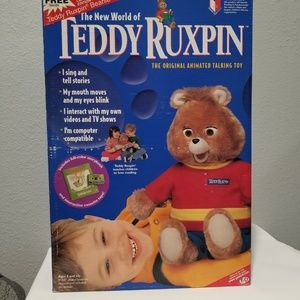 1998 Mint Complete Talking Teddy Ruxpin Bear NEW